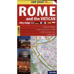 Rome and the Vatican plan miasta 112 000