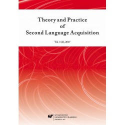 """Theory and Practice of Second Language Acquisition"" 2017. Vol. 3 (2)"