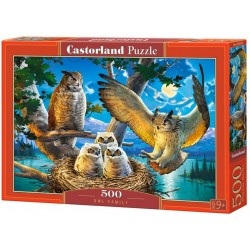 Puzzle 500 Owl Family CASTOR