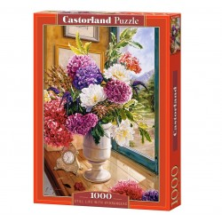 Puzzle 1000 Still life with hydrangeas CASTOR