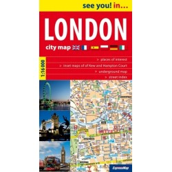 LONDON CITY MAP PAPIEREXPRLondyn plan miasta 116 000